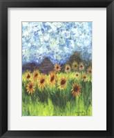 Framed Sunflower Mountain Garden Flag