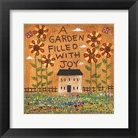 Framed Garden Filled With Joy