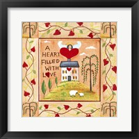 Framed Heart Filled With Love 1