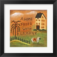 Framed Home Filled With Laughter