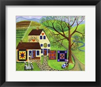 Framed Amish Country Quilt Makers