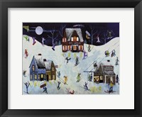 Framed Mountain Ski Slope