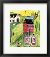 Framed Faith Family Red Farmhouse