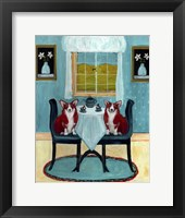 Framed Doggie Tea Time