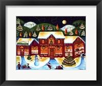 Framed P.W. Corgi Christmas Shop