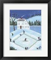 Framed Snow Ball Baseball