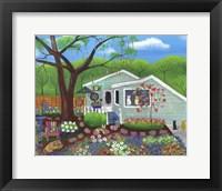 Framed Cats and Dog at Garden Folk Art House