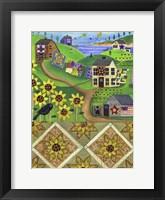 Framed Sunflower Quilt Farm