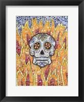 Framed Burning Skull