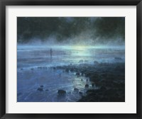 Framed Blue Moon Rising