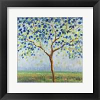 Framed Tree in Blue