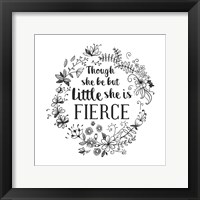 Framed Though She Be But Little - Wreath Doodle White