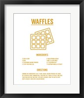 Framed Waffle Recipe Yellow on White