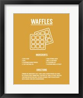Framed Waffle Recipe White on Yellow