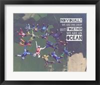 Framed Together We Are An Ocean - Skydiving Team Color
