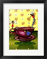 Framed Teacup Fairies