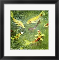 Framed Koi Fish Pond