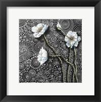 Framed White Poppies 2
