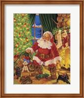 Framed Santa Pups