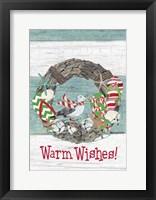 Framed Coastal Christmas Warm Wishes