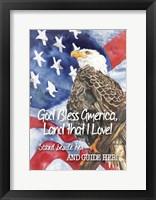 Framed God Bless America