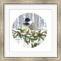 Framed Winter Wonder Chickadee