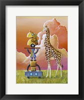 Framed Robots On Safari