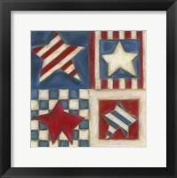 Framed American Stars