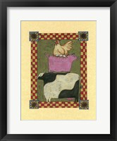 Framed Chicken Pig Cow Stacked