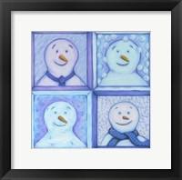 Framed Four Snowmen