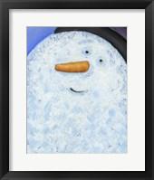 Framed Snowman Smile