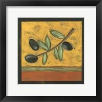 Framed Tuscan Olive Branch I