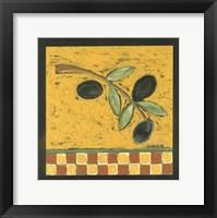 Framed Tuscan Olive Branch II