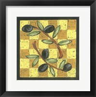 Framed Tuscan Olive Branch III