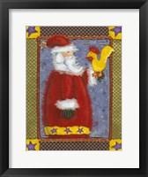 Framed Santa & Bird