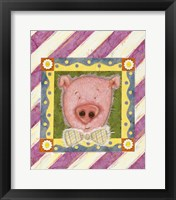 Framed Pig in Bow Tie