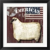 Framed American Wool I