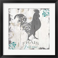 Framed Ferme Teal 1
