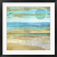 Framed Turquoise Moon Day