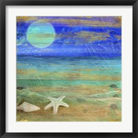 Framed Turquoise Moon Night
