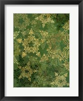 Framed Star Pattern Green and Gold