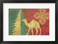 Framed Xmas Tree and Camel