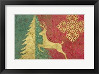 Framed Xmas Tree and Deer