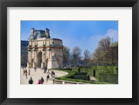 Framed Arc de Triomphe du Carroussel and the Tuileries Garden
