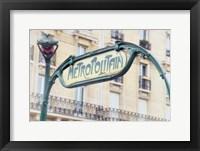 Framed Art Nouveau Entrance of the Paris Metro