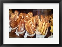 Framed Bread in a Bakery Window