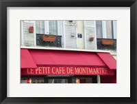 Framed Cafe on Montmartre