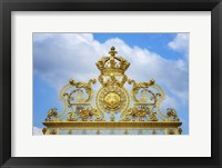 Framed Golden Gate Of The Palace Of Versailles II