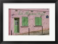 Framed La Maison Rose