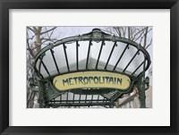 Framed Metropolitain Abbesses